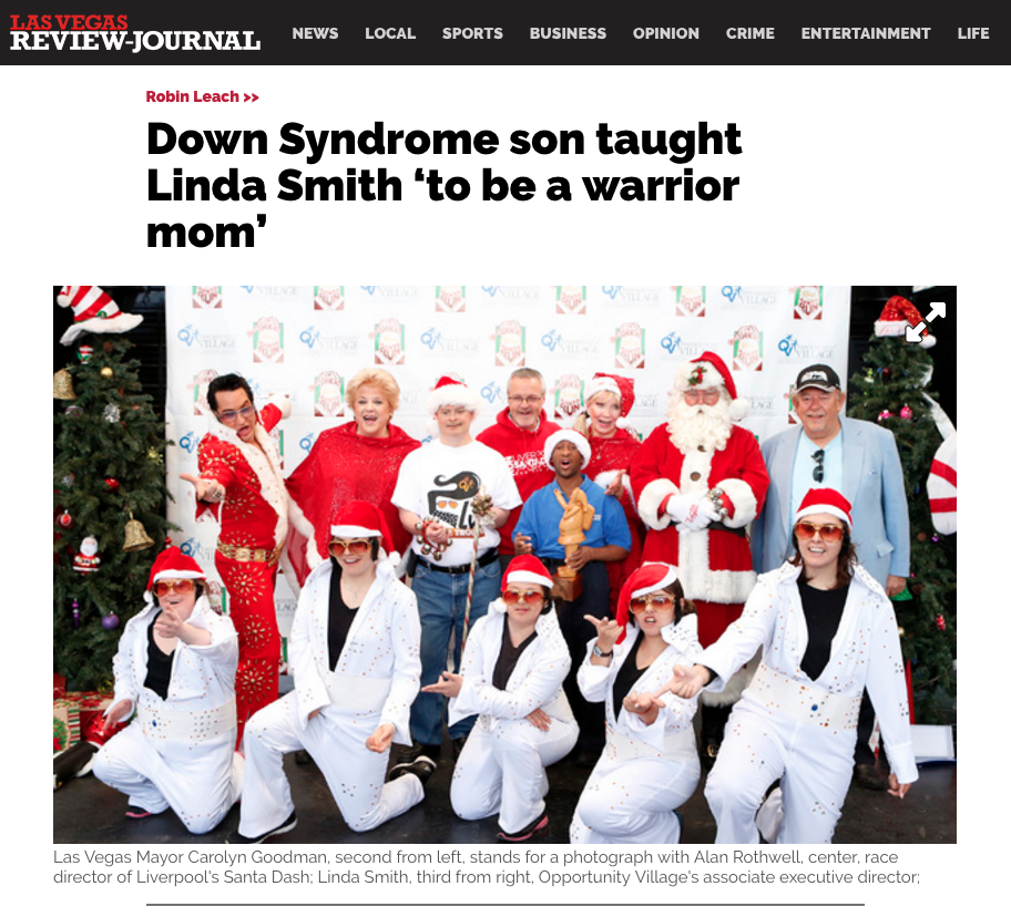 Down Syndrome son taught Linda Smith 'to be a warrior mom'